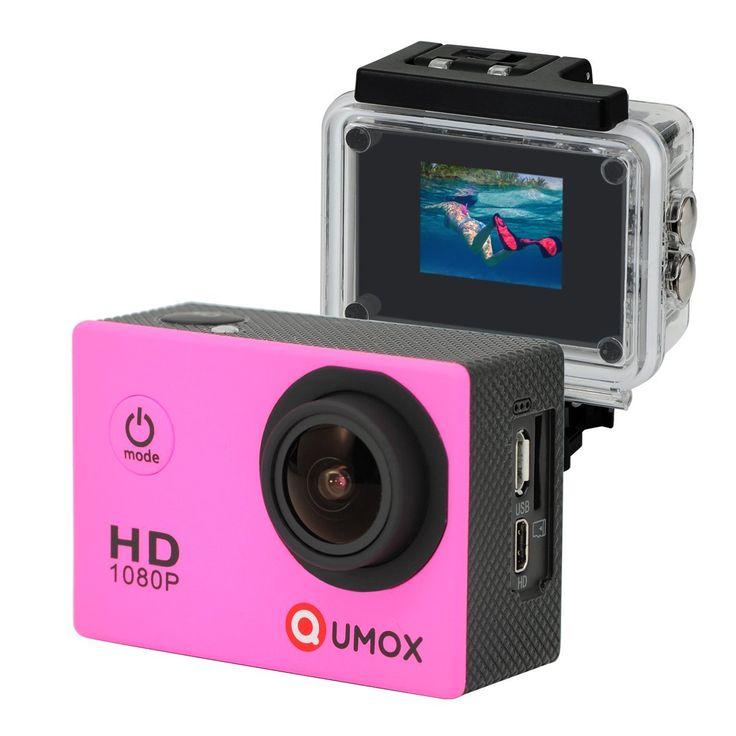 QUMOX Actioncam SJ4000, Action Sport Kamera Camera Waterproof, Full HD, 1080p Video, Helmkamera, Pin