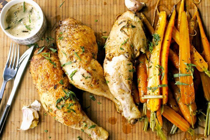 Heerlijke dragon kip met geroosterde worteltjes | www.keukenrevolutie.be