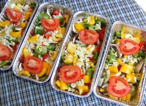 Krupnioki z warzywami na grilla