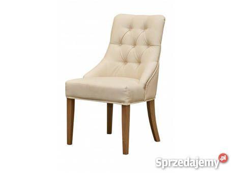 Fotel krzesło z kołatką pinezkami pikowane Poznań sprzedam