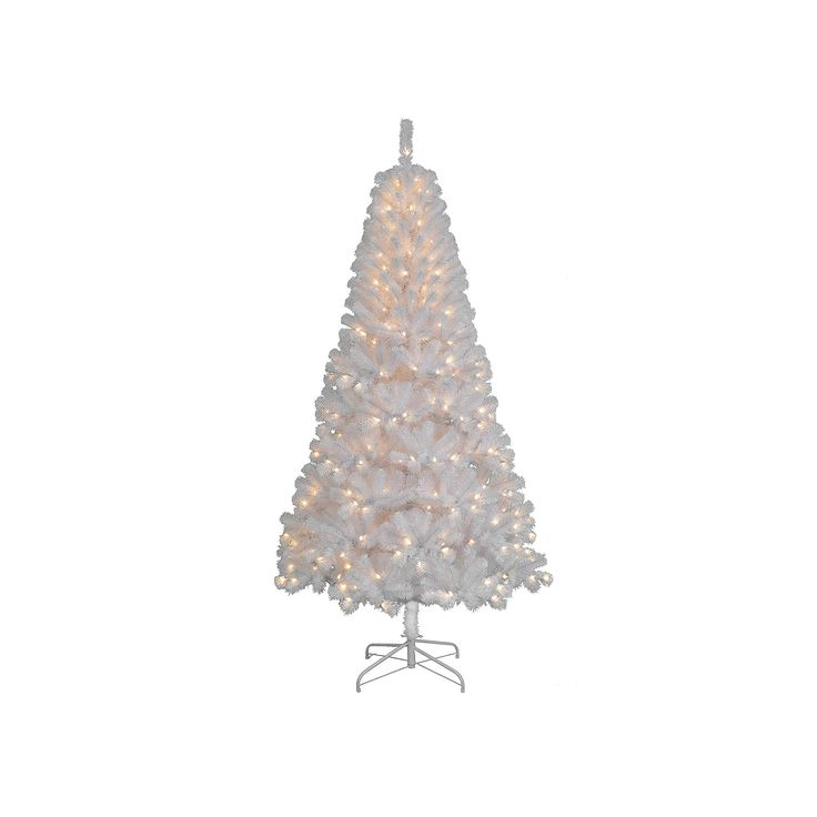 St. Nicholas Square® 7-ft. White Artificial Christmas Tree, Multicolor
