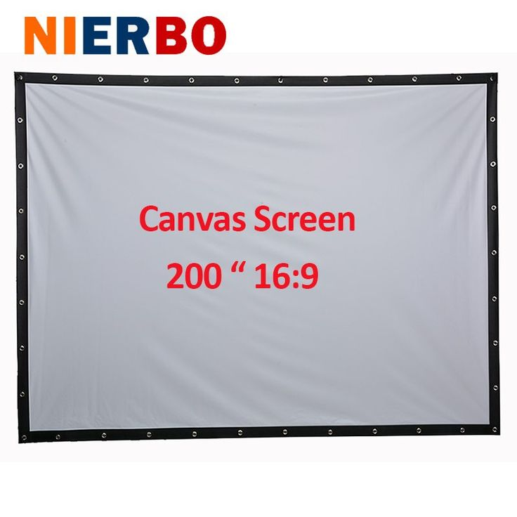 Factory sales 200 inch 16:9 Projector HD Screen Portable Folded Front projection screen fabric with eyelets without Frame //Price: $138.93//     #shopping