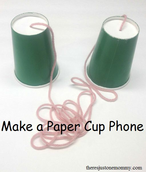 Do you remember making paper cup phones as a child? Share that fun with your kids, and teach them about sounds waves in the process!