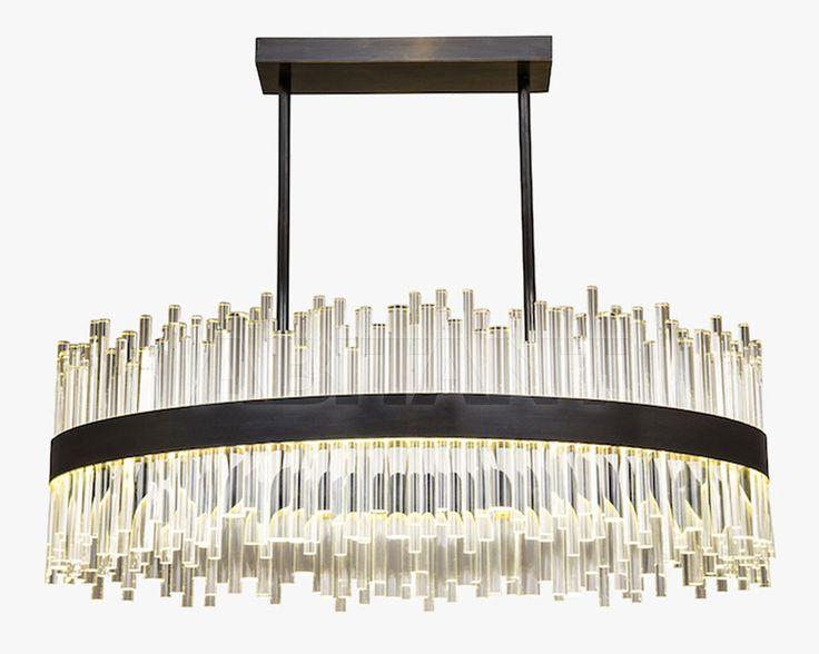 Люстра Bond Street Oval темно-серая Bella Figura CL122-OVAL , каталог осветительных приборов: фото, заказ - ABITANT , Москва