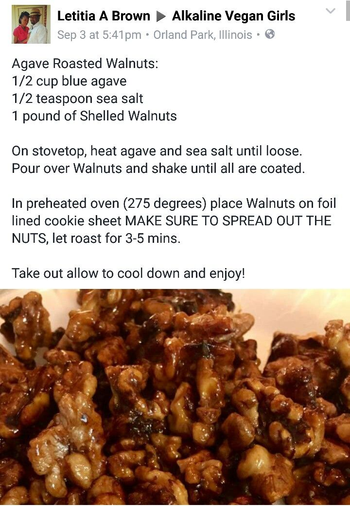 Agave Roasted Walnuts With Dr Sebi Approved Ingredients Dr Sebi Recipes Alkaline Diet