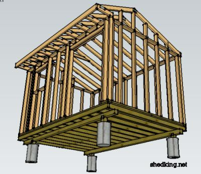 78 best images about how to build a shed on pinterest for How to build a pier foundation