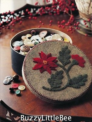Quilt Pattern Button Box Wool Applique Hold Buttons or Make A Gift Box | eBay