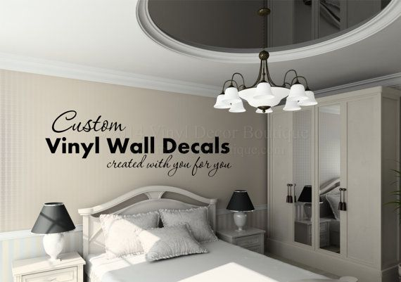 Custom Wall Quote Custom Wall Decal Vinyl by VinylDecorBoutique