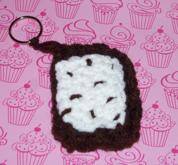 Made to Order Crochet PopTart Keychain by MissMegansCraftHaven, $4.50