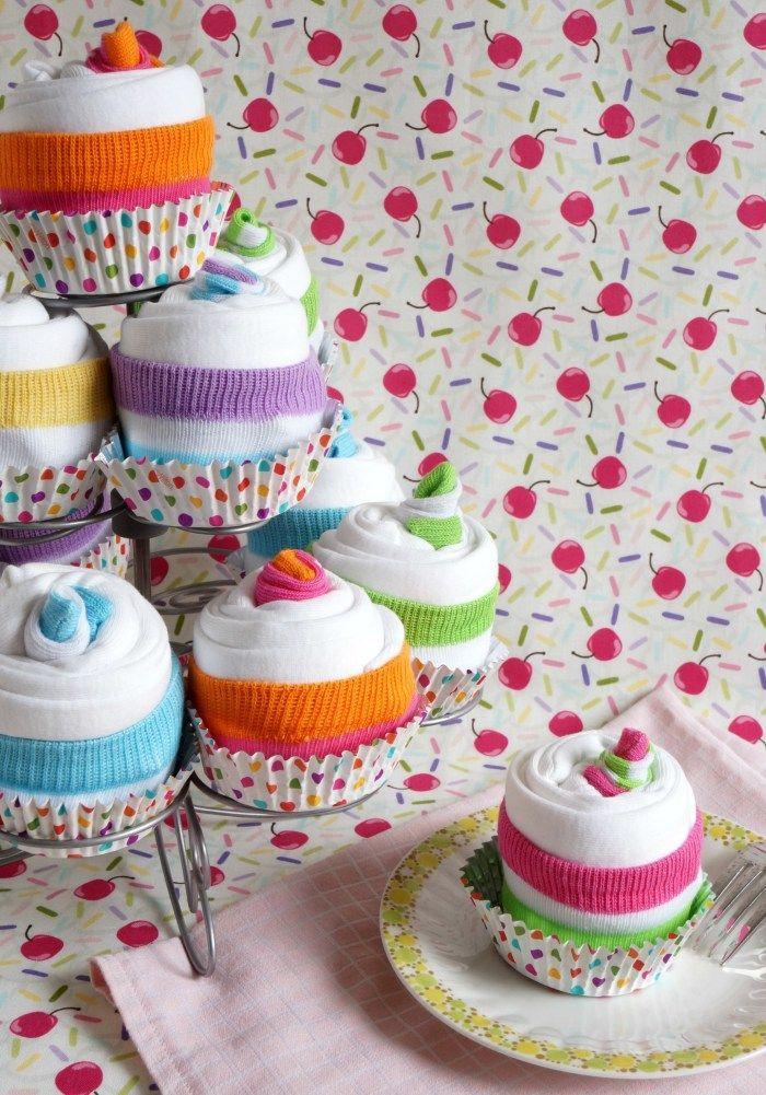 Onesie Cupcake Tutorial                                                                                                                                                                                 More