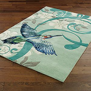 Kingfisher Rug #kaleidoscope #home #trend
