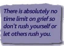 My grief is what it is. I make no excuses.  Matt was my partner in life.. You try moving on from that...