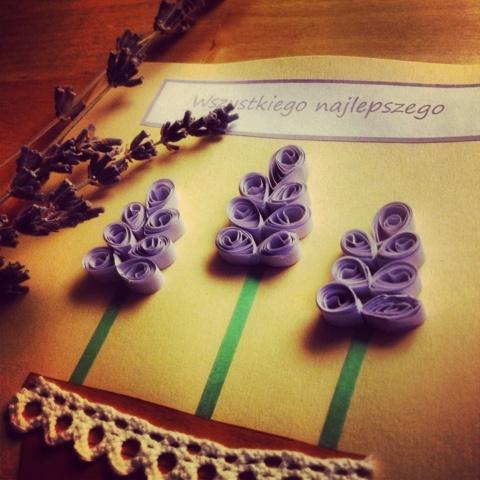 Lawenda / Lavender   Quilling Card