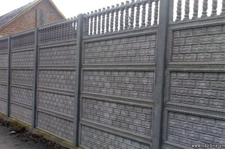 How to install a fence of concrete slabs