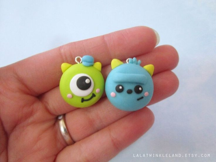 Cute Monsters (Set) - Polymer Clay Charm by LalaTwinkleLand on Etsy https://www.etsy.com/listing/233390492/cute-monsters-set-polymer-clay-charm