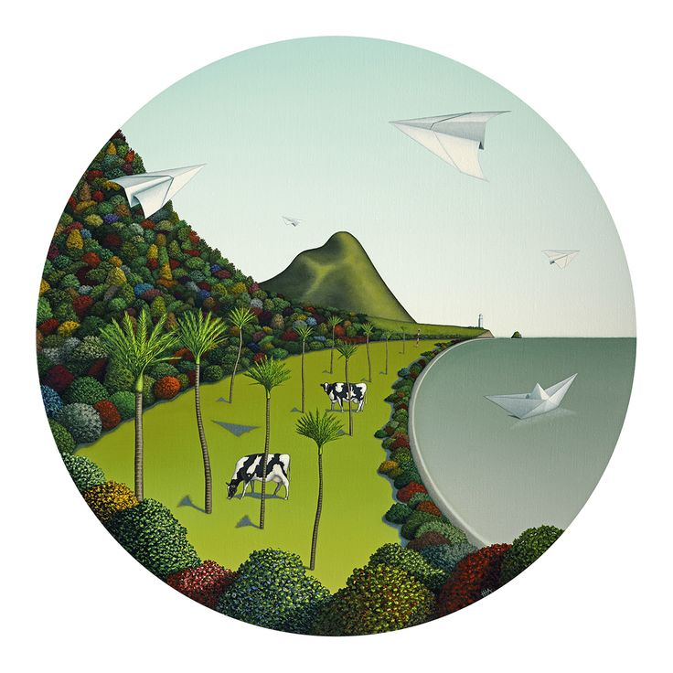 Clean And Green by Christchurch artist Hamish Allan. Artprints and notecards available from www.imagevault.co.nz and stockists nation-wide.