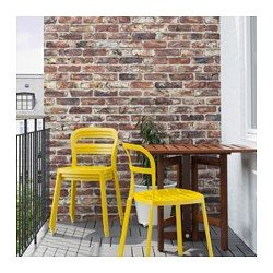 IKEA - REIDAR, Chair, in/outdoor, Chair made entirely of aluminium, can be outdoors all year round.The holes in the seat allow water to drain off.You can stack the chairs, so they take less space when you're not using them.