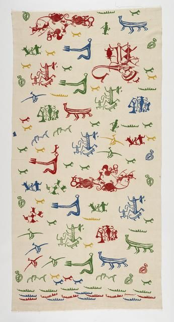 A. R. D. Fairburn (1904-1957) was not only a New Zealand poet but a fabric printer. Curtain circa 1950 | Ngā Toi Arts Te Papa - Museum of New Zealand Te Papa Tongarewa