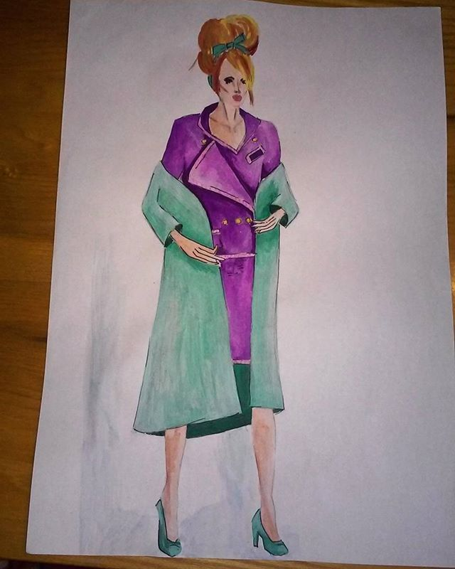 #fashion #paint #painting #illustration #illutrate #fashionillustration #moda #mode #chanelsuit #purple #turquoise #woman #design #designing #designer #fashiondesigner #fashiondesign #fashiondesigning #suit #style #stylish #stylist