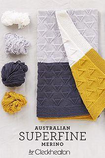 Free pattern, Mod Baby Blanket, by Cleckheaton