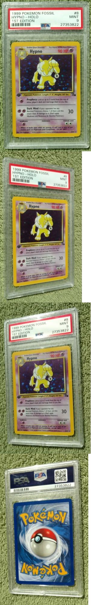 Pok mon Individual Cards 2611: Psa 9 Mint Hypno 8 62 1St Edition Holo Rare 1999 Wizards Fossil Pokemon Card -> BUY IT NOW ONLY: $40 on eBay!