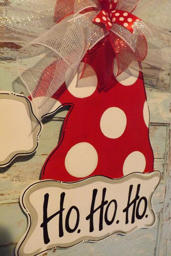 christmas door hanger christmas door decor by bluepickledesigns navidad pinterest. Black Bedroom Furniture Sets. Home Design Ideas