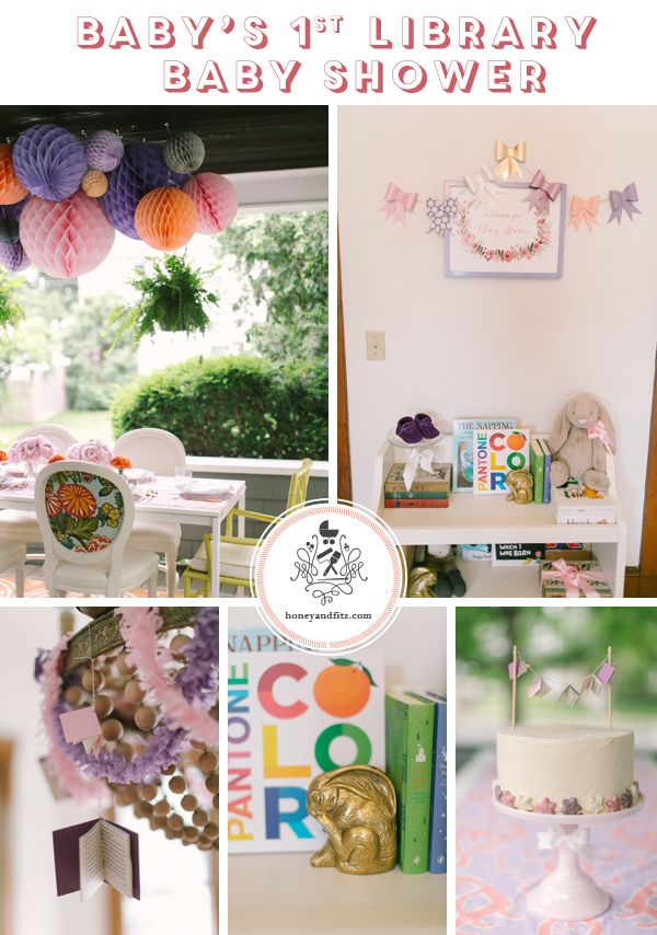 Build a Library Baby Shower by Honey & Fitz