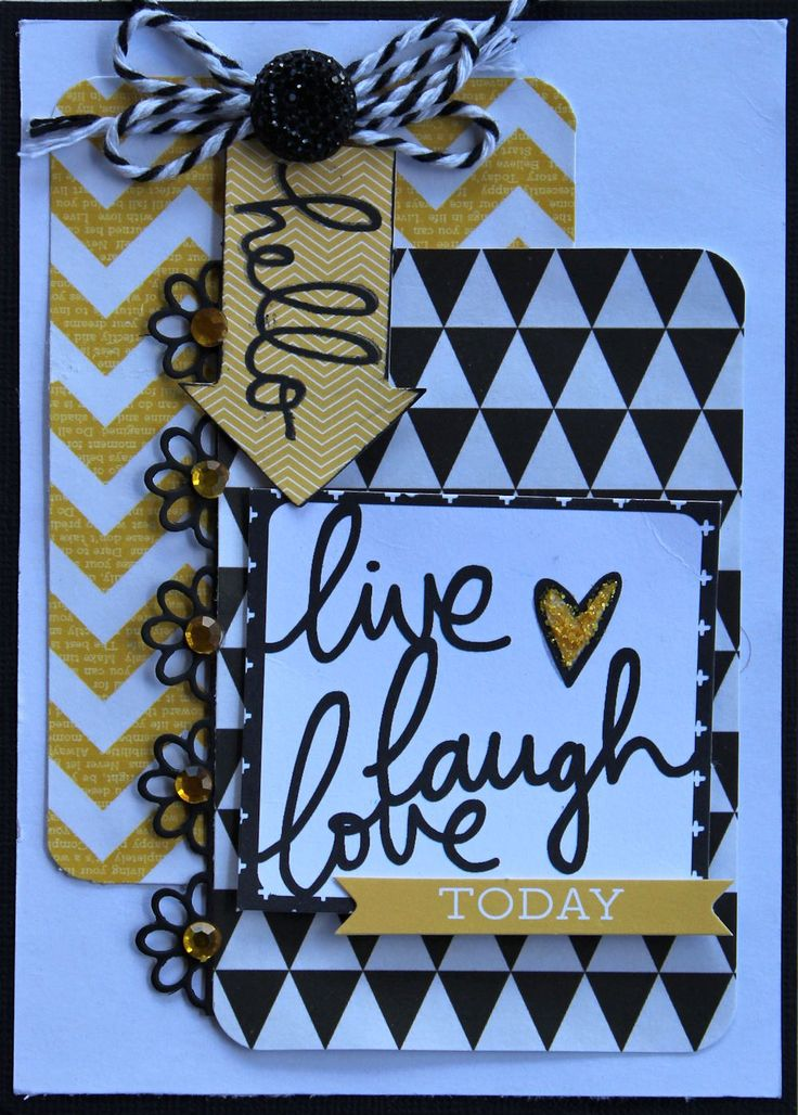"Kaisercraft ""Shine Bright"" coollection ""Hello"" Card by Cathy Cafun - Wendy Schultz ~ Cards - Clean + Simple."