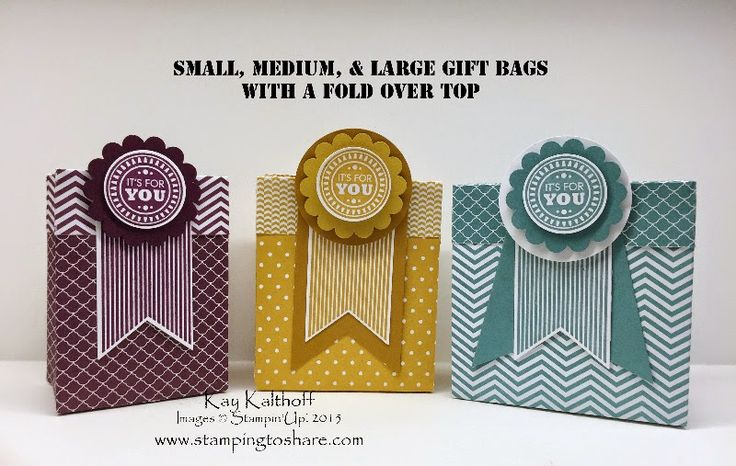 Gift Bag Punch Board! Plus How to Video to make a Gift Bag with a Fold Over Top, Stampin' Up!, Stamping to Share, Kay Kalthoff, Amazing Birthday, Treat Bag