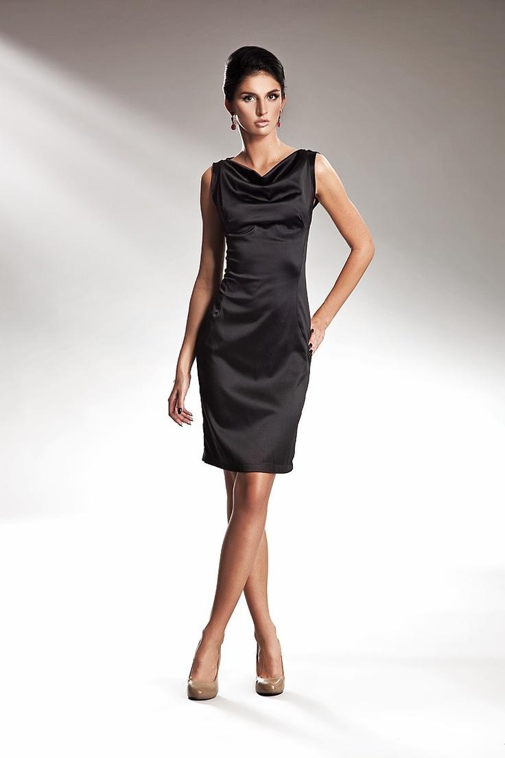 Superbe #robe en #satin #noir  #LBD #blackdress #satin #petiterobenoire
