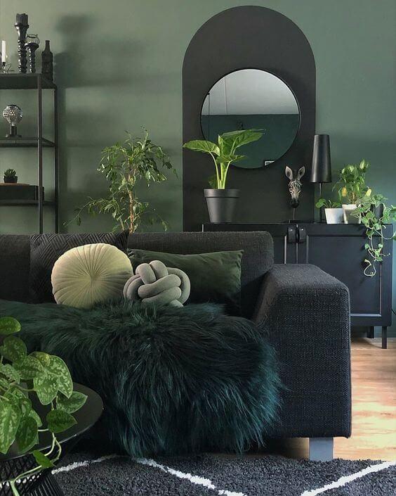 Dark Green Color Trend Green Living Room Decor Living Room Green Dark Green Rooms