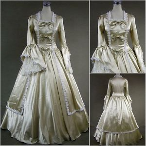 Marie Antoinette Dress Victorian Halloween Costume 18th Century Gold | eBay