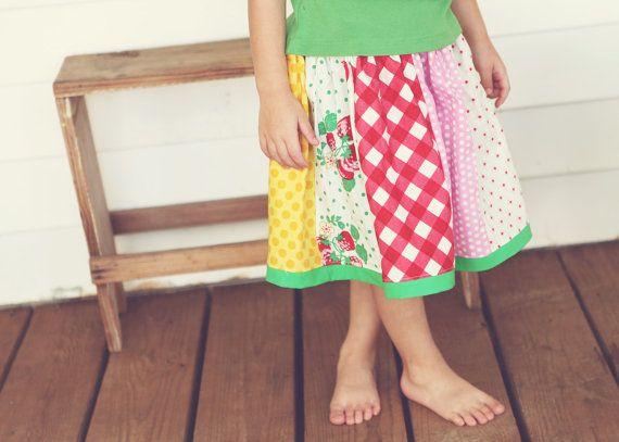 Strawberry Fields Strip Skirt-Reese