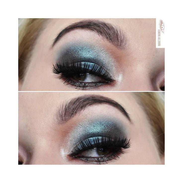 in love with this look 😍 #makeup #mua #makeupartist #partymakeup #makijaz #wizaz #makijazystka #partylook #beauty #beautiful #glam #lashes #sparklingeyes #sparklingsmokey #pigments #blueeyes #bluemakeup #partygirl #girl #instamood #eyesmakeup #eyes #like #loveit #maccosmetics #tartecosmetics #nyxcosmetics #lancome #lancomecosmetics