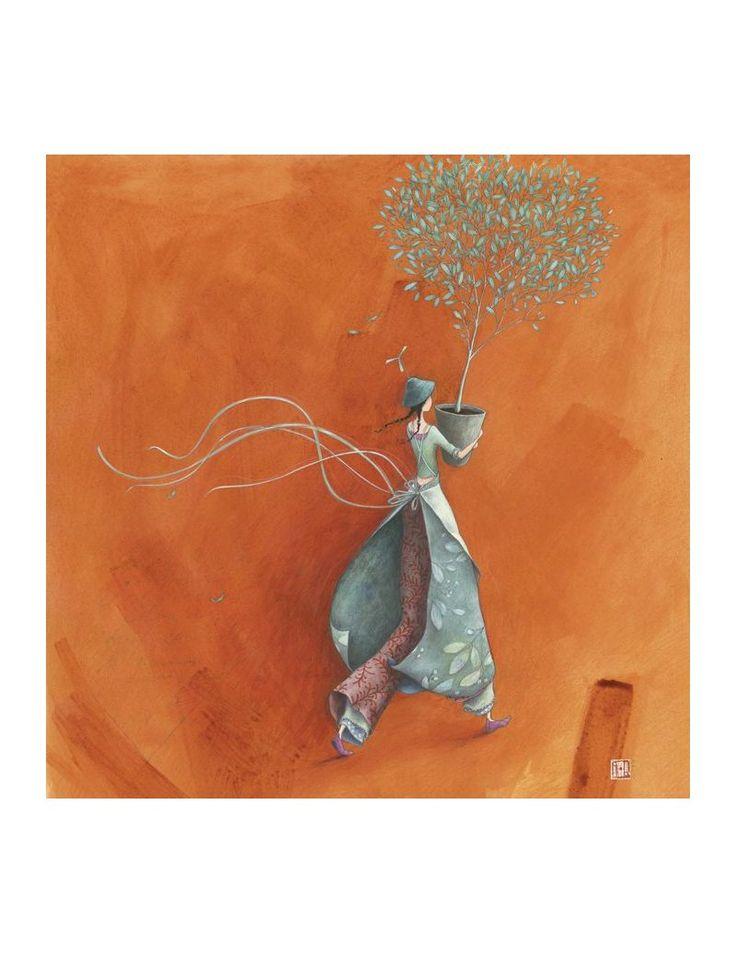 """Gaëlle Boissonnard carte postale carrée (14 cm) """"L'arbre offert"""" - Arret-sur-image.eu"""