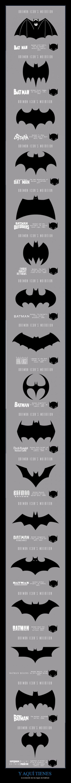Y AQUÍ TIENES - la evolución de los logos de Batman