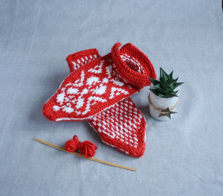 Norwegian slippers, fair isle slippers, selbu slippers, selbu pattern socks, Norwegian socks, orange slippers, Estonian socks, warm slippers by MyKnitStudio on Etsy
