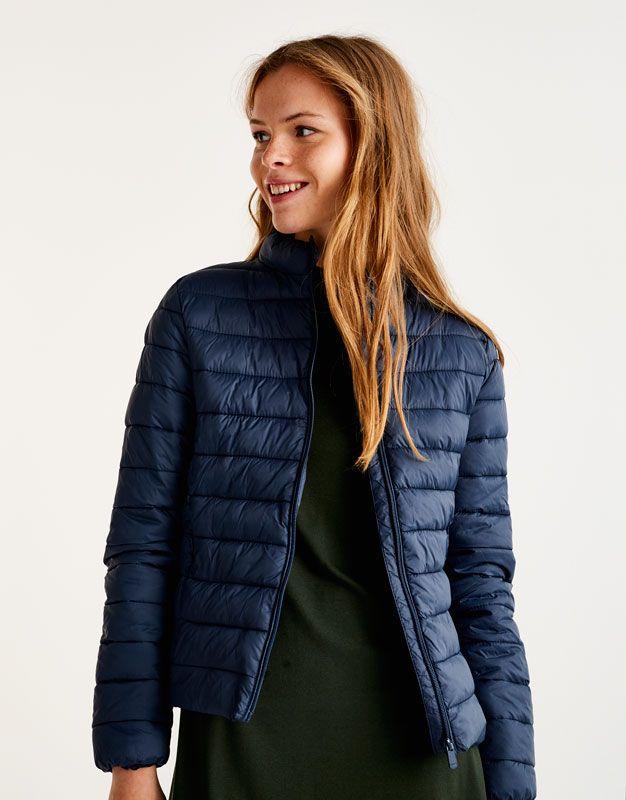 Z2018  Pikowana kurtka basic - Basics - Odzież - Dla Niej - PULL&BEAR Polska