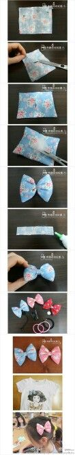 Puffy hair bow tutorial  (OH!!! HAVE to make some of these for Destiney!!!! She's going to be so happy!!!!--Misty)