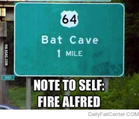 "Love this sign. We actually stay in Bat Cave North Carolina and drove past this sign to our cabin and yelled ""Robin, to the bat cave!!!"