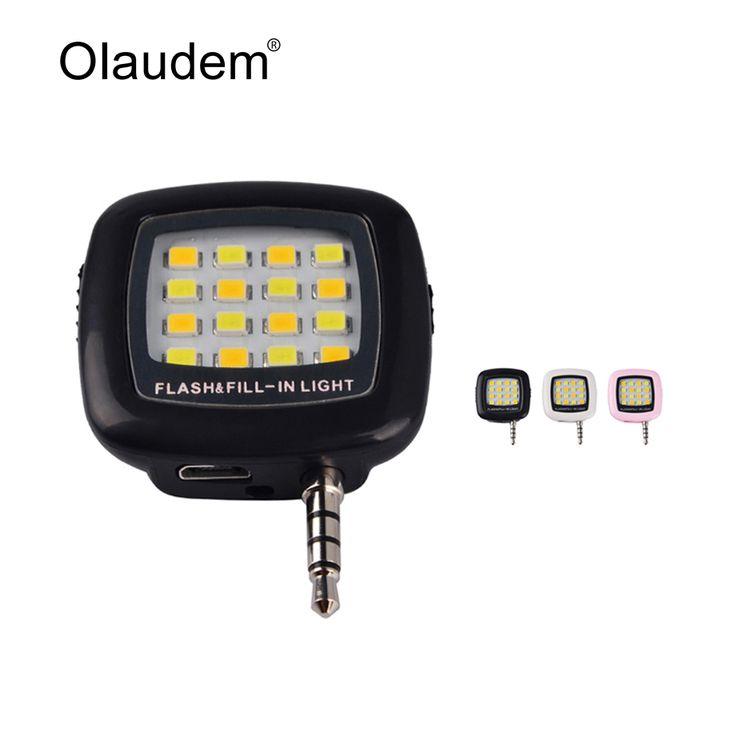 Mini 16 LED Malam Menggunakan Selfie Meningkatkan Kamera Flash isi-in Lampu Dimmable Lampu Flash Ponsel Untuk Smartphone LP1278