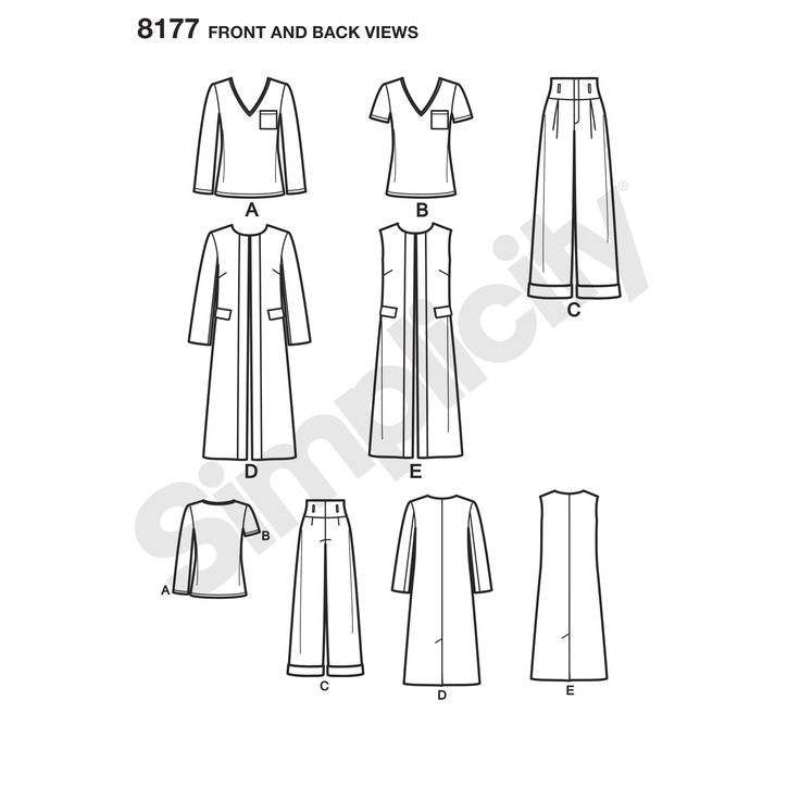 Simplicity 8177 by Mimi G, woven fabric