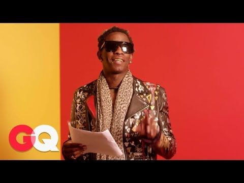 """GQ: Young Thug Reads the Lyrics to Song """"Best Friend"""" So You Can Actually Understand Them. Kind Of"""