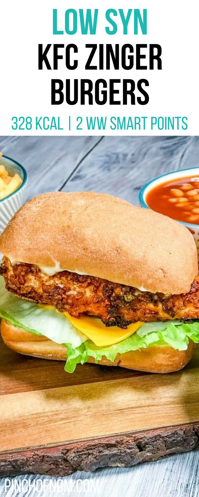 Low Syn KFC Zinger Burgers | Pinch Of Nom Slimming World Recipes 328 kcal | 2 Syns | 2 Weight Watchers Smart Points