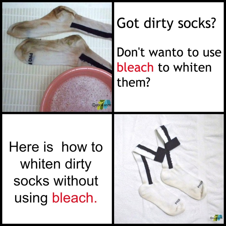 146 best images about cleaning organizing on pinterest soaps homemade and households - Get clean white socks without bleach ...