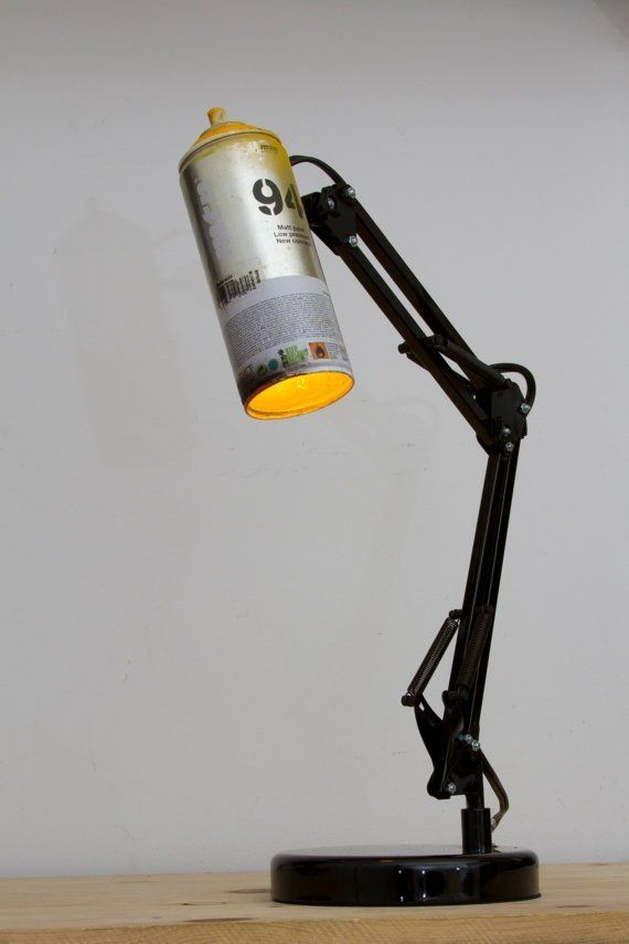 SprayPaint Lamps #RecycledLamp #DeskLamp #DIY @idlights