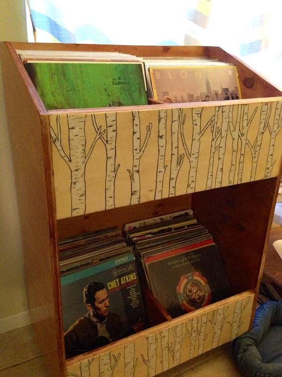 """12 Vinyl / Album, LP Storage Rack   A solid purpose built shelving unit for volume storage of 12"""" Vinyl albums and records within a small footprint."""