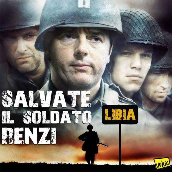 Salvate il soldato Renzi... #IoSeguoItalianComics #Satira #Politica #Renzi