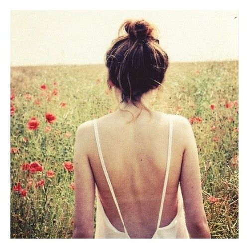 a low back goes great with a top knot or messy bun to show your whole back