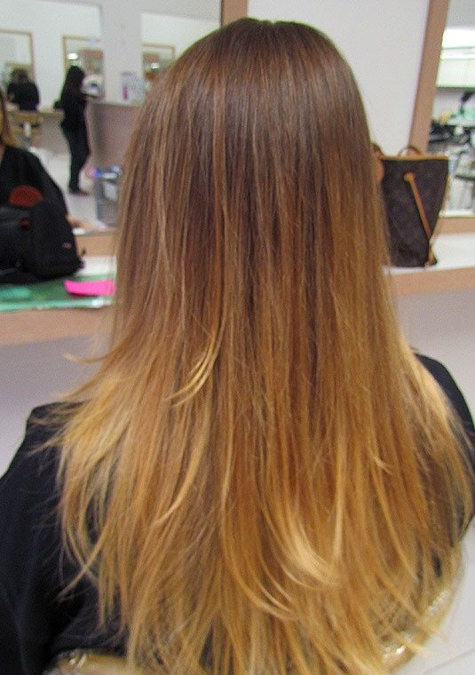 straight hair ombre
